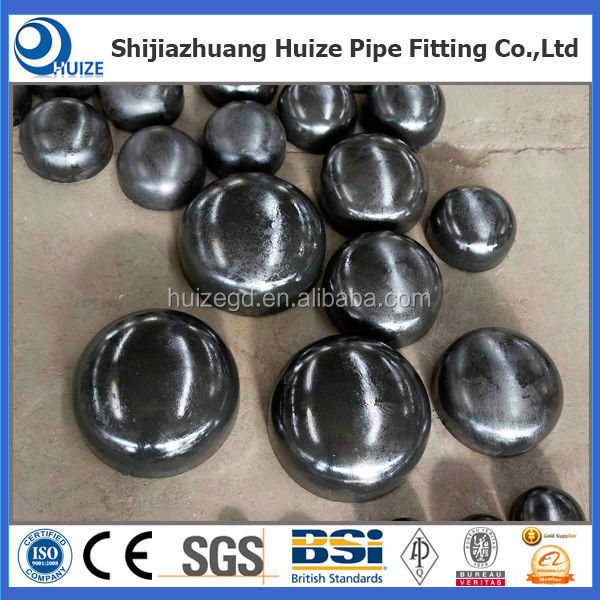 weld on carbon steel dished end cap for oil gas warter