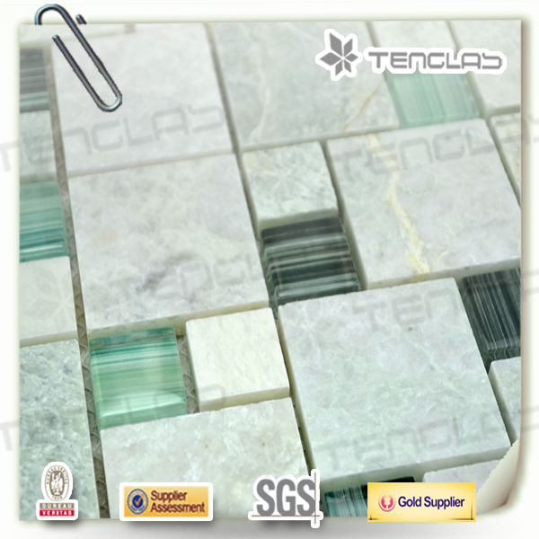new style decoration glass mix stone mosaic tile
