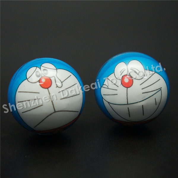 Doraemon toy Cartoon rubber LED light up hand grip spin ball magic spinning ball