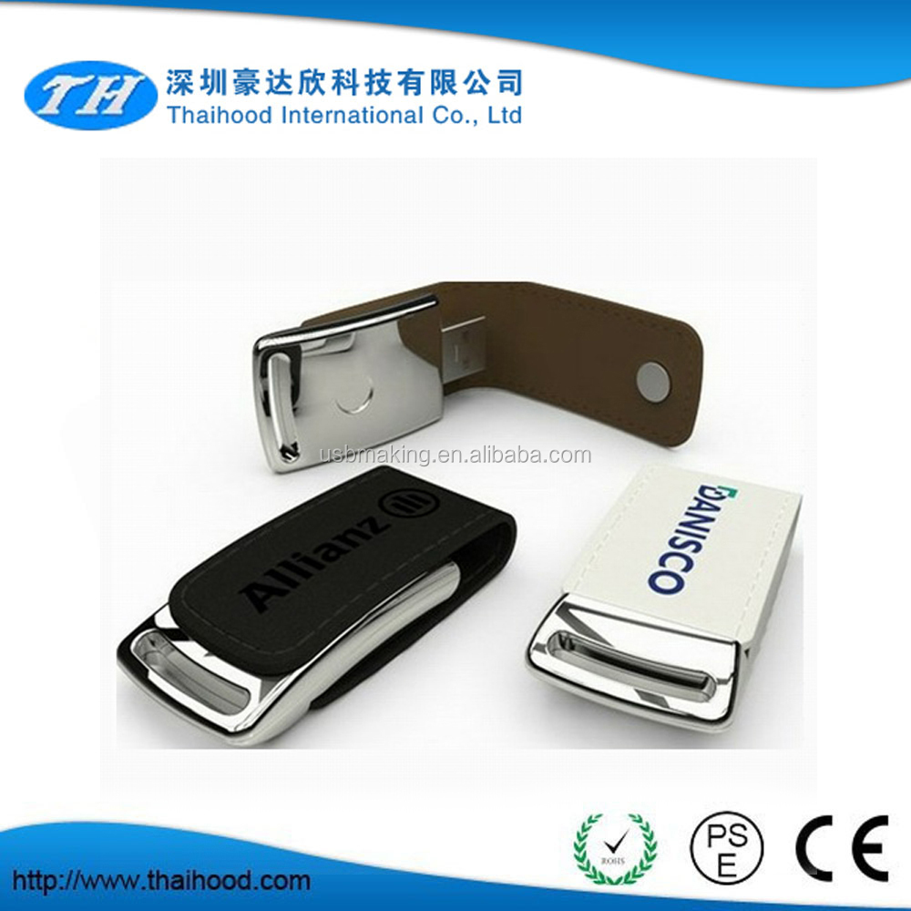 High quality Leather USB Flash Drive / Executive USB Flash Drive / Magnetic USB Flash Drive