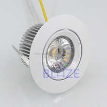 6w AC cob led down light reccessed downlight 220V dimmable