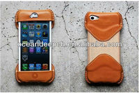 edge protective leather case new designed leather case cover for iphone5