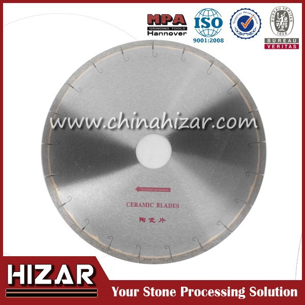 350mm J Slot Porcelain Diamond Cutting Saw Blades For Stone