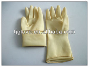 Industrial Latex Glove/white industrial glove