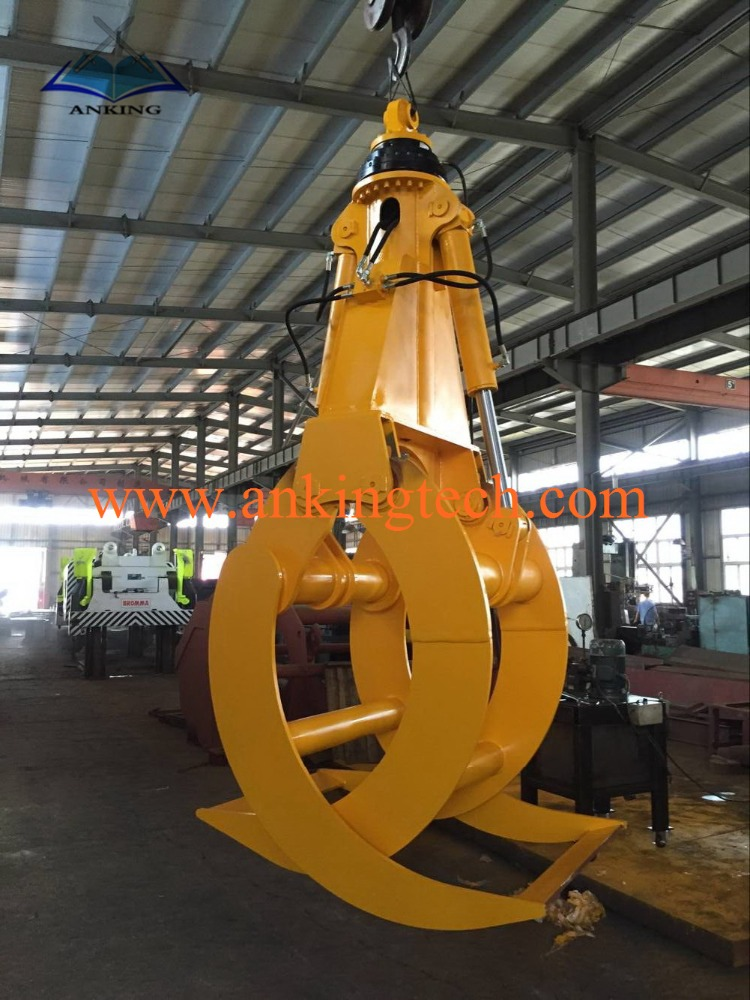 360 degree Rotating Hydraulic Wood Grab Bucket For 1-50 Excavator Grapple A-2