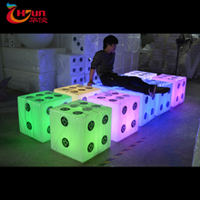 Rechargeable outdoor led mood light cube