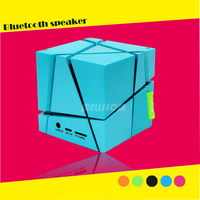 2015 high quality water cube mini bass cube speaker support TF card/ FM radio/ Handsfree