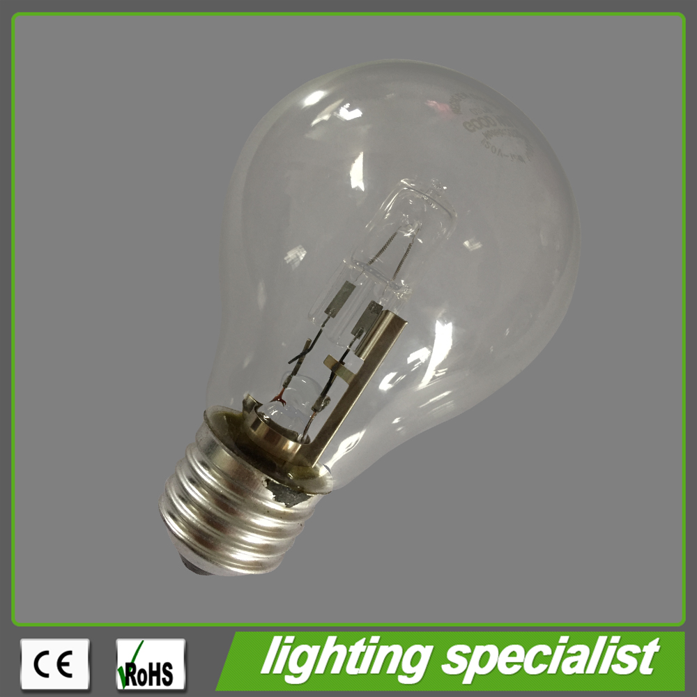 Export To South American Classic Edison Bulb Shape A60 Halogen Lamp 53W Incandescent Bulb Replacement