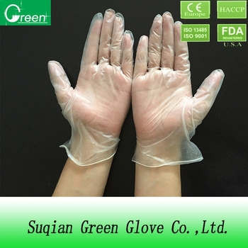 china glove/cleaning sponge gloves/clear vinyl pvc glove