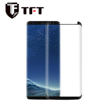 Case friendly 3D Curved full cover small size tempered glass screen protector for Samsung Galaxy S8