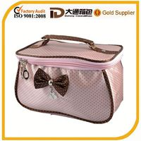cute promotional satin cosmetic bag toiletry bag