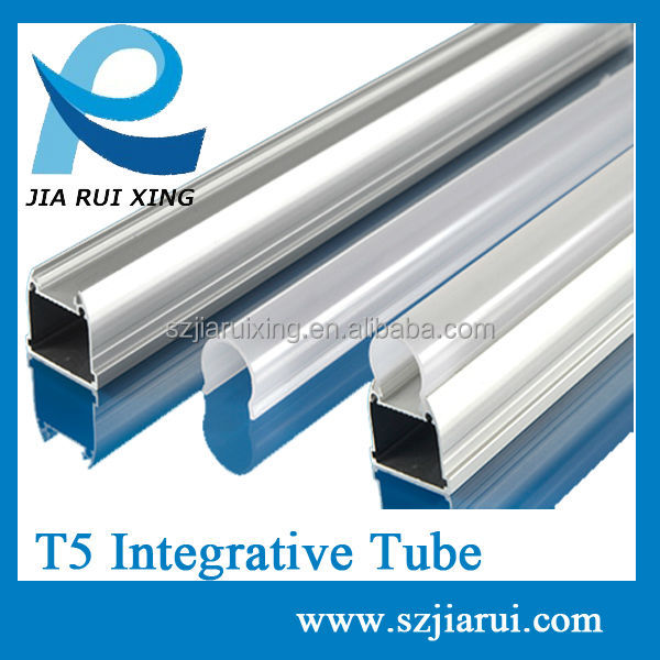 LED T5 integrative tube shade/ aluminum housing and pc cover