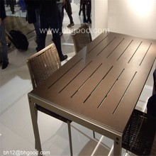 Customized hpl dining tabletop compact laminate table top in laminator wooden finish