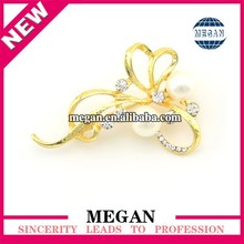 imitate tara flower shape brooch for Wedding invitationcard