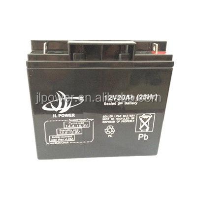 Rechargeable lead acid AGM deep cycle solar batteries 12v 20ah, 12v20ah deep cycle battery made in China.