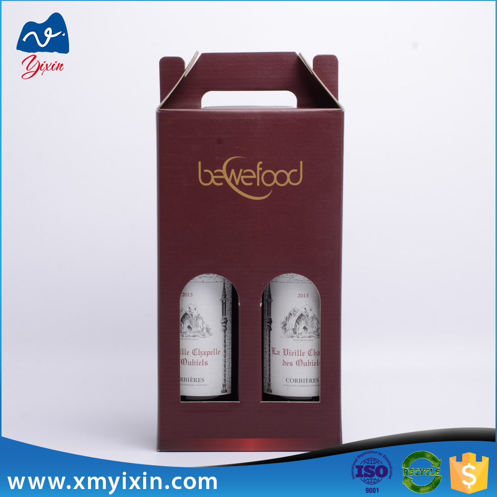 Round tube paper glass wine gift box