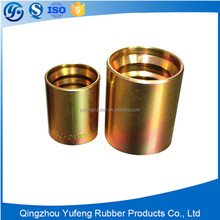 Brass hose ferrule for low pressure rubber hose