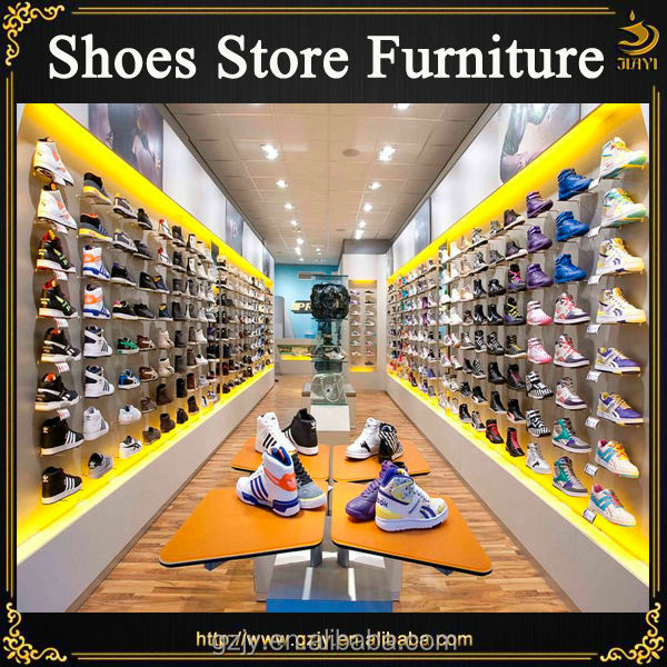2017 fashion modern basketball shoes store display stand and shoe display shelf