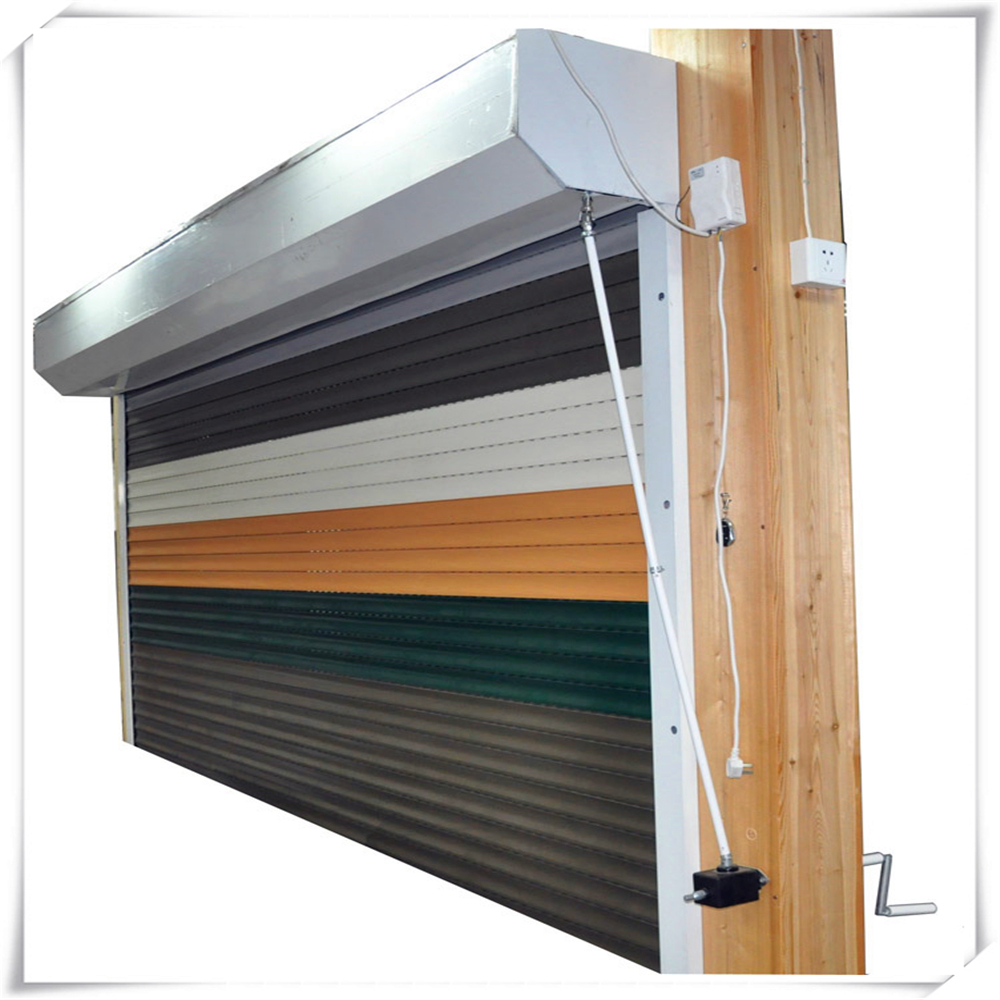 Aluminium rolling shutters roll up window with auto roller for Roller shutter motor installation