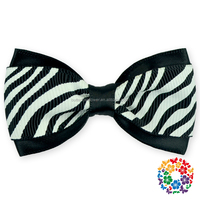 Black and White Stripe Hair Bows Wholesale Hair Clips The Ribbon Boutique Claws Jaw Hair Clips For Christmas Ornaments