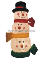 inflatable christmas Snowman/Fancy three snowman heads/Fantastic appearance