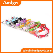 Amigo Pet faux leather flower shape hardware decoration dog collar tops pet products ,luxury pet products