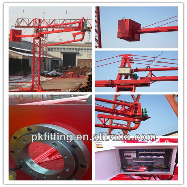 Concrete spreader concrete pouring equipment with delivery hose (Electric Operation)