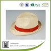 BSCI Audit red rope striped plain dyed grass bowler straw fedora hat