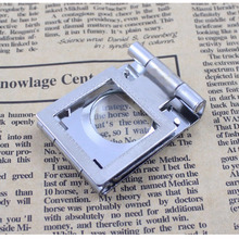 Stainless Steel Folding Magnifier 10X 20MM Portable Mini Magnifying Glass Lupa Loupe for Watch Repair