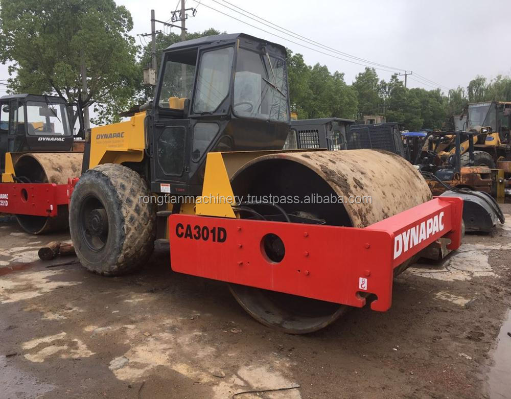 Good quality used dynapac road roller CA301D for sale/ dynapac roller with low price