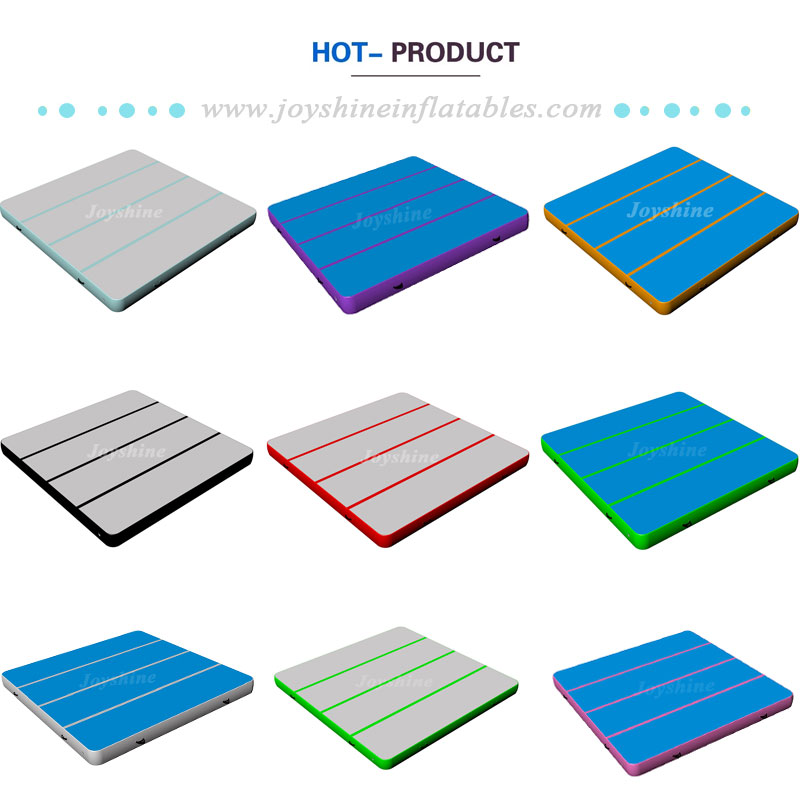 Large Inflatable Square Air Track Bounce Gymnastics Jumping Mat Outdoor High Jump Gym Landing Mats Bouncing Square Airtrack
