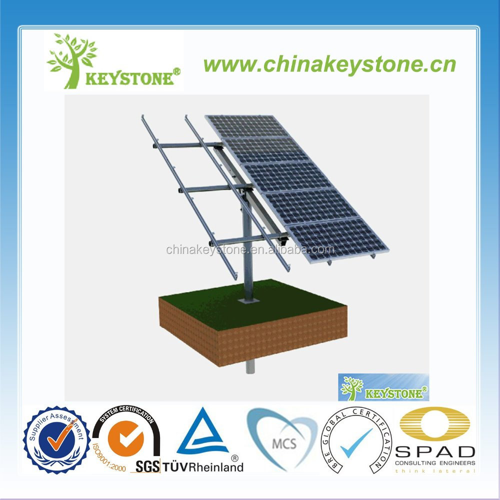 Single Pole ground solar mounting system solar panel bracket