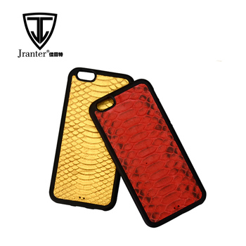 Customized Color and Printing Snakeskin Leather Cell Mobile Phone Case Cover Mobile Phone Shell