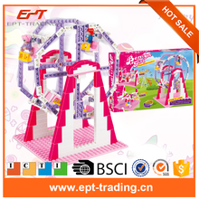 Hot selling cheap girls toys ferris wheel building block toy for sale