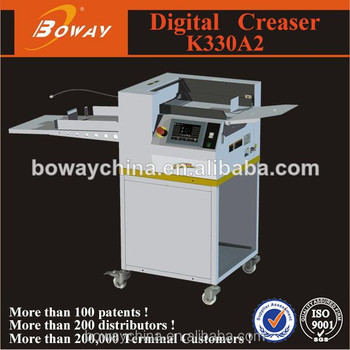 Boway K330A2 no need flip side automatic concave convex paper Creaser