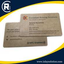 RFID contact plastic business cards