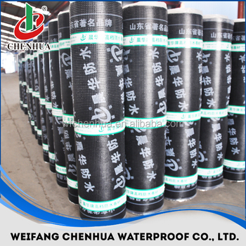 China construction material SBS modified waterproofing rubber roofing sheet