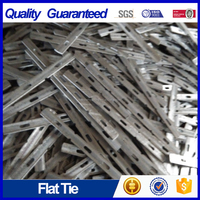 "28"" plain concrete flat ties"