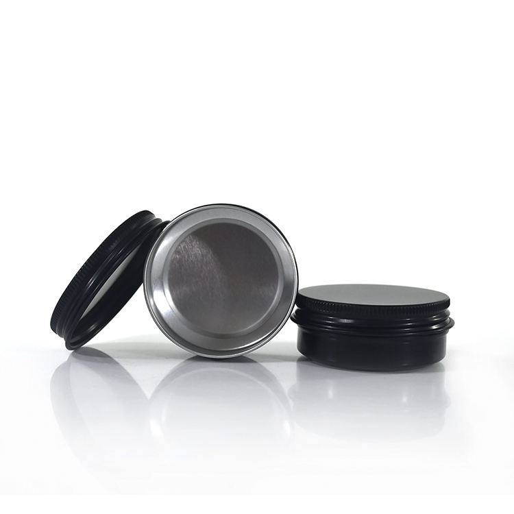 alibaba China supplier empty 10g 15g 30g 50g black aluminum cream jar for cosmetic pacakging