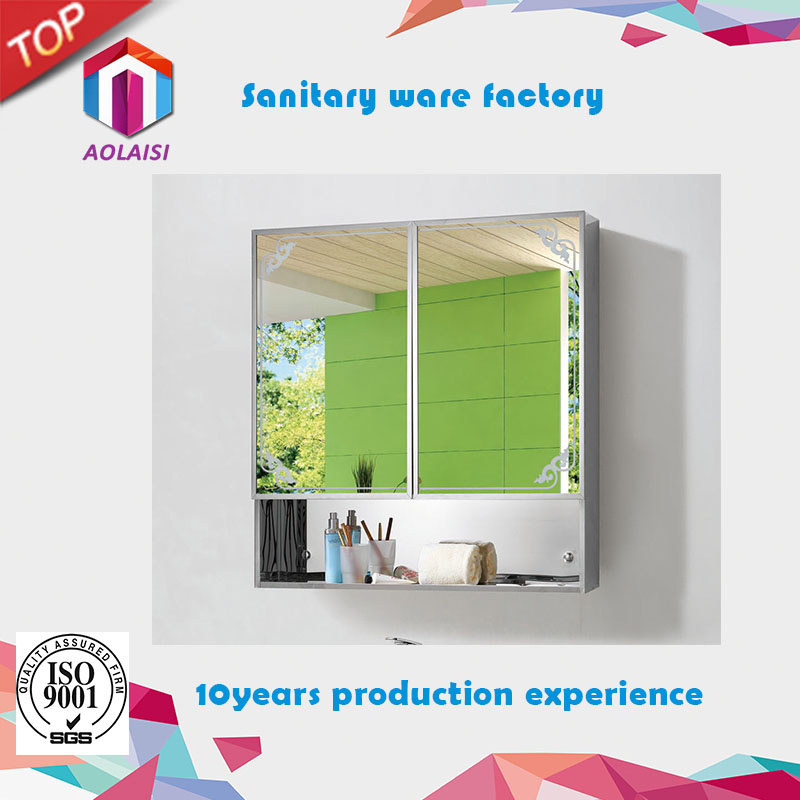 AL-028 Aolaisi Custom Large Decorative Framed/Frameless Bathroom Wall Mirror