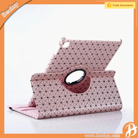 Wholesale for ipad air 3 fashion grid 360 degree rotation leather stand case