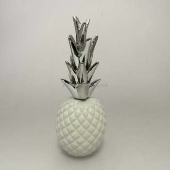Customized White Ceramic Pineapple For home decoration