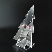 Customized Color Earring Jewelry Display Acrylic Counter Display Stand Holder