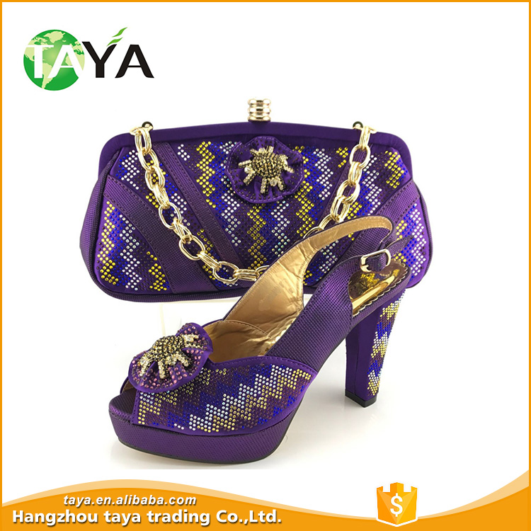 Shoe and bag match for african party women bruno giordano italian shoe and bag set