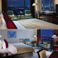 Fabric upholstery bedroom set for star hotel, Customized hotel room furniture (EMT-SHL33)