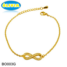 Olivia Personalized Saudi Gold Jewelry Fashion Gold Infinity Bracelet Wholesale