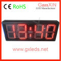 wholesale alibaba 8 inch semi-outdoor led clock time date temperature sign