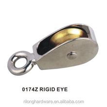 Model 0174Z RIGID EYE Zinc Alloy Nickel or Chrome Plating Safety Rigid Eye Pulleys