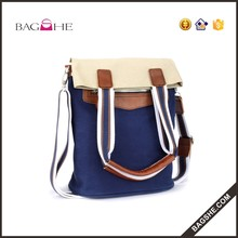2016 High quality lady fashion factory Leisure canvas handbag oem women's tote hand bag wholesale
