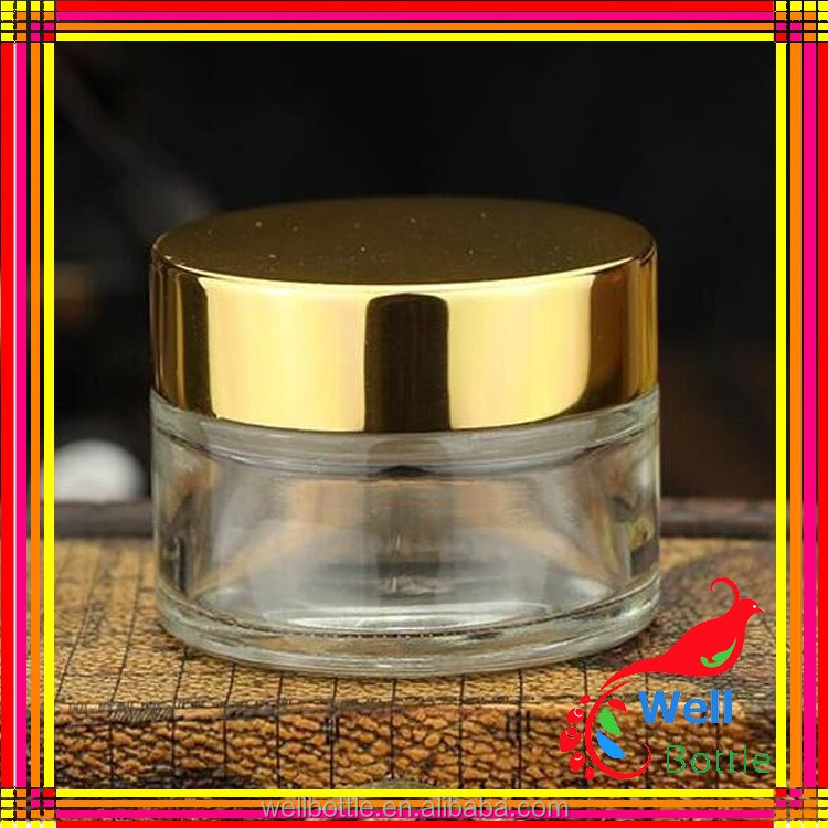 Free sample products hermetic glass storage jars for beauty cosmetics GJ023R